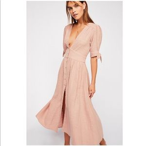 Free people Love of my life midi dress in rose